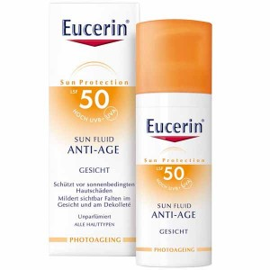 EUCERIN SUN PROTECTION 50 SUN FLUID ROSTRO A-AGE  50 ML